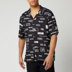 Ksubi Men's You Have Been Warned Resort Shirt - Black - Xl  5000004626  Mens Tops, Black