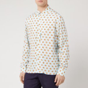 Lanvin Men's Long Sleeve Bowling Shirt - Lanvin Blue - 40cm/l  Rm Si0342 4429 P20 Shirts Mens Tops, Blue