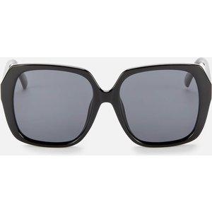 Le Specs Women's Frofro Oversized Sunglasses - Black Frame: Black. Lens: Grey. Laf2128431 Womens Accessories, Frame: Black. Lens: Grey.