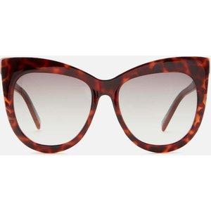 Le Specs Women's Hidden Treasure Cat Eye Sunglasses - Tort Frame: Tortoiseshell. Lens: Brown Gradient. Lsp2102302 Womens Accessories, Frame: Tortoiseshell. Lens: Brown Gradient.