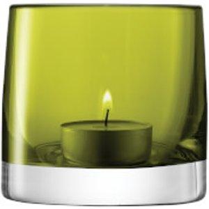 Lsa International Lsa Light Colour Tealight Holder - Olive Green G368 08 387 Home Accessories, Green