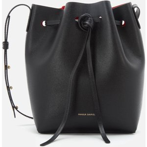 Mansur Gavriel Women's Mini Bucket In Saffiano Bag - Black/flamma Hmb004sa Blfla Clothing Accessories, Black