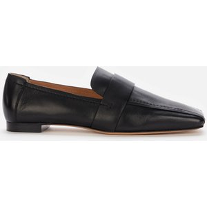 Mansur Gavriel Women's Square Toe Leather Loafers - Black - Uk 3 Ws21f006kq Flats Clothing Accessories, Black