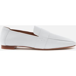 Mansur Gavriel Women's Square Toe Leather Loafers - Snow - Uk 7 White Ws21f006kq Flats Clothing Accessories, White