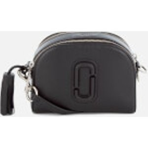 Marc Jacobs Women's Shutter Leather Shoulder Cross Body Bag - Black  M0009474  Clothing Accessories, Black
