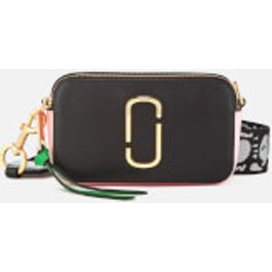 Marc Jacobs Women's Snapshot Cross Body Bag - Black/baby Pink Multi  M0012007 978  Clothing Accessories, Multi