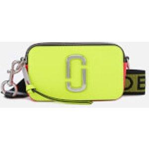 Marc Jacobs Women's Snapshot Fluoro Cross Body Bag - Bright Yellow Multi  M0014503 768  Clothing Accessories, Yellow
