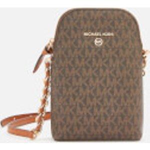 Michael Michael Kors Women's Jet Set Charm Small Chain Phone Cross Body Bag - Brown/acorn  32t0gt9c1b 252  Clothing Accessories, Brown