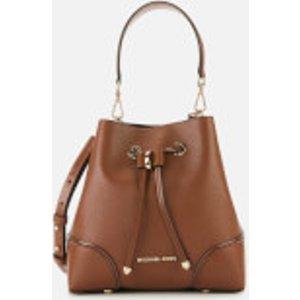 Michael Michael Kors Women's Mercer Gallery Small Convertible Bucket Bag - Luggage Tan  30F9GZ5L1L 230  Clothing Accessories, Tan