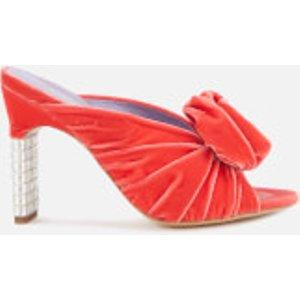 Mulberry Women's Velvet Heeled Mules - Coral - Eu 36/uk 3 - Pink  MB31121A 08243 330 Sandals Womens Footwear, Pink