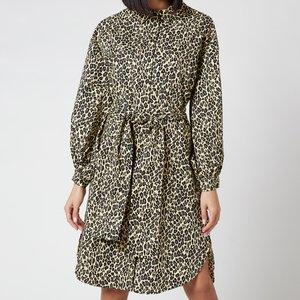 Munthe Women's Salvia Leopard Dress - Yellow - Fr 40/uk 14 20427 Dresses Womens Dresses & Skirts, Yellow