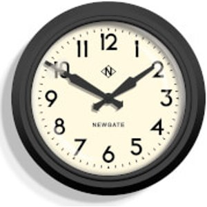 Newgate 50's Electric Wall Clock Black Gwl12mk Home Accessories, Black