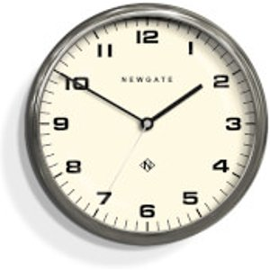 Newgate Chrysler Silent Wall Clock - Burnished Stainless Steel Silver  WAT406BSS  Home Accessories, Silver