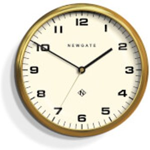Newgate Chrysler Wall Clock - Radial Brass Gold  Wat406rab  Home Accessories, Gold