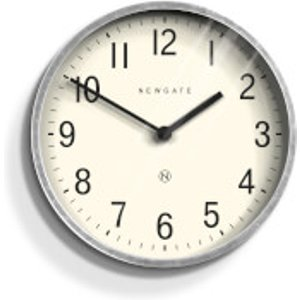Newgate Master Edwards Wall Clock - Galvanised Steel Metallic  LUGG371GAL  Home Accessories, Metallic