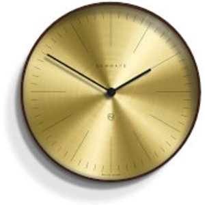 Newgate Mr Clarke Wall Clock - Dark Wood - Brass Dial Gold Mrc224dply40 Home Accessories, Gold