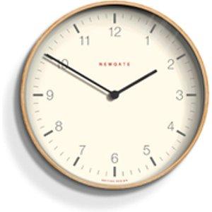 Newgate Mr. Clarke Wall Clock - Pale Wood Brown  MRC159PLY53  Home Accessories, Brown