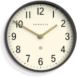 Newgate Mr Edwards Wall Clock - Matte Blizzard Grey Black  PUT371BGY  Home Accessories, Black