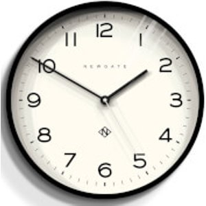 Newgate Number Three Echo Wall Clock - Black  NUMTHR129K  Home Accessories, Black