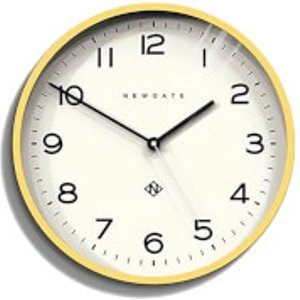 Newgate Number Three Echo Wall Clock - Cheeky Yellow  NUMTHR129CHY  Home Accessories, Yellow