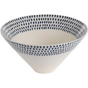 Nkuku Indigo Drop Serving Bowl - Cream And Indigo Cream/Blue  ID0103  Home Accessories, Cream/Blue