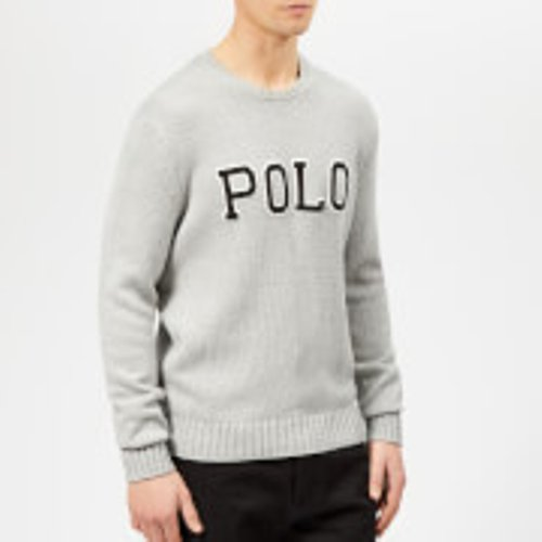 Polo Ralph Lauren Men's Embroidered Logo Knitted Jumper - Andover Grey Heather - Xxl  710730217002 Knitwear Mens Clothing