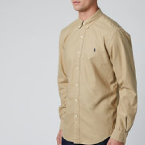 Polo Ralph Lauren Men's Oxford Sport Shirt - Surrey Tan - M  710804257005 Shirts Mens Tops, Tan