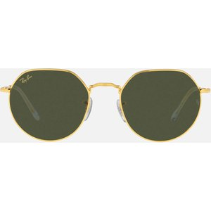 Ray-ban Jack Hexagonal Metal Sunglasses - Gold Frame: Gold. Lens: Light Brown. 0rb3565 919631 53 Womens Accessories, Frame: Gold. Lens: Light Brown.