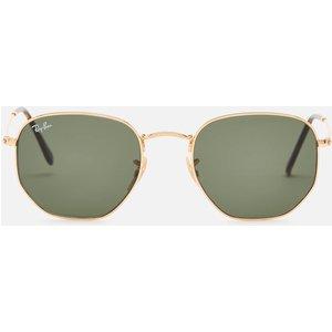 Ray-ban Women's Hexagonal Metal Sunglasses - Gold 0rb3548n 001 54 Womens Accessories, Gold