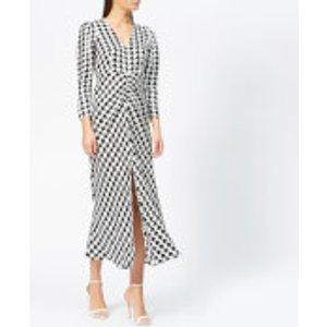 Rixo Women's Ziggy Houndstooth Dress - Black/white - S - Black Rix10 247 Ss19 368 Dresses Womens Dresses & Skirts, Black