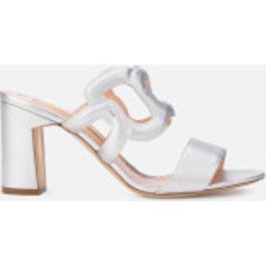 Rupert Sanderson Women's Angelica Leather Block Heeled Sandals - Silver - Uk 4 - Silver  SS19 01 Womens Footwear, Silver