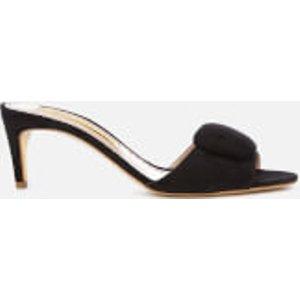 Rupert Sanderson Women's Gwyneth Suede Heeled Mules - Black - Uk 7 - Black  RES19 21 Sandals Womens Footwear, Black