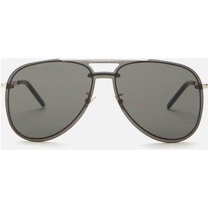 Saint Laurent Men's Classic 11 Mask Aviator Sunglasses - Silver/grey Classic 11 Mask 001 Mens Accessories, Grey