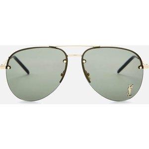 Saint Laurent Metal Aviator Style Sunglasses - Gold 30001168003, Gold