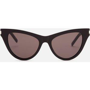 Saint Laurent Women's Cat Eye Acetate Sunglasses - Black Sl 425 Womens Accessories, Black