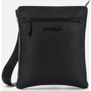 Salvatore Ferragamo Men's Firenze Shoulder Bag - Black 240131 740805 001 Bags, Black