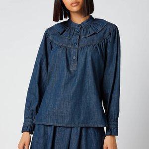 See By Chloé See By Chloé Women's Flou Denim Shirt - Denim - Eu 40/uk 12 Blue Chs21udh01162 Tops Clothing Accessories, Blue