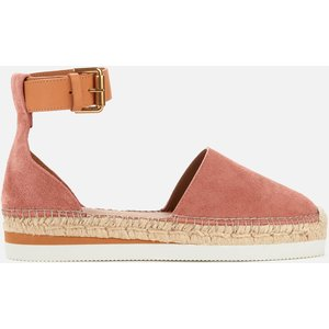 See By Chloé See By Chloé Women's Glyn Leather Espadrilles - Pink - Uk 5 Sb26150 13290 Shoes Womens Footwear, Pink