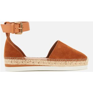 See By Chloé See By Chloé Women's Glyn Leather Espadrilles - Tan - Uk 4 Sb26150 13291 Shoes Womens Footwear, Tan