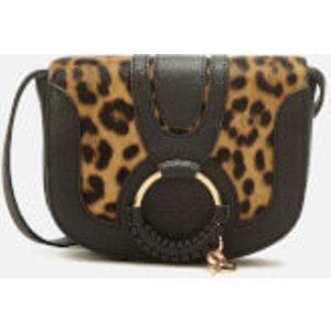 See By Chloé Women's Hana Leopard Cross Body Bag - Black  Chs19as901609001  Clothing Accessories, Black