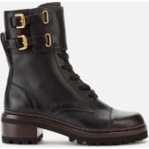 See By Chloé See By Chloé Women's Leather Lace Up Military Boots - Nero - Uk 3 Black Sb33080a.10140 999 Womens Footwear, Black