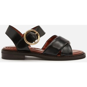 See By Chloé See By Chloé Women's Lyna Leather Flat Sandals - Black - Uk 7 Sb36031a 13080 Womens Footwear, Black