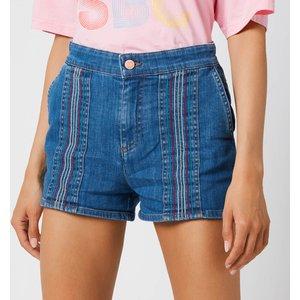 See By Chloé See By Chloé Women's Signature Rainbow Denim Shorts - Denim - Eu 38/uk 10 Blue Chs21uds01150 Clothing Accessories, Blue