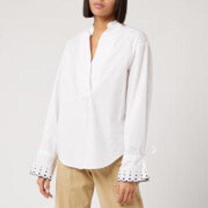 See By Chloé Women's Spots Cuff Detail Shirt - White - Eu 34/uk 6 S20sht26029 101 Tops Womens Tops, White