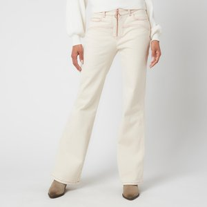 See By Chloé See By Chloé Women's Topstitched White Denim - Buttercream - W27 Chs21udp01 Jeans Clothing Accessories, Cream