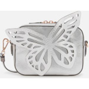 Sophia Webster Women's Flossy Butterfly Camera Bag - Silver  Baw18009  Clothing Accessories, Silver