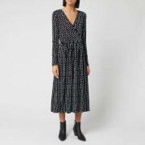 Stine Goya Women's Alina Light Jersey Dress - Oval Dot - S Black  Sg2766 Dresses Womens Dresses & Skirts, Black