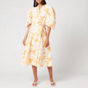 Stine Goya Women's Belinda Jacquard Wrap Dress - Flora - L Orange  Sg3113 1930 Dresses Womens Dresses & Skirts, Orange