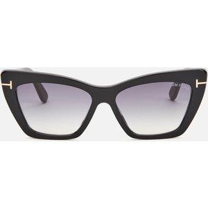 Tom Ford Women's Wyatt Cat Frame Sunglasses - Black/smoke Frame: Black. Lens: Grey. Ft0871 Womens Accessories, Frame: Black. Lens: Grey.