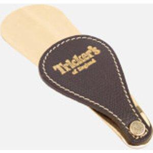 Tricker's Leather Fob Shoe Horn - Brass Brown Brass Shoe Horn Accessories Womens Footwear, Brown